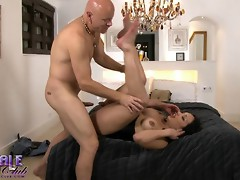 Horny TS Holly riding Tom's huge dick