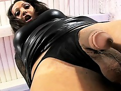 Gorgeous Sunshyne dildoing her wet butthole