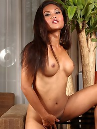 Exotic TS Ming posing her rock hard cock