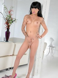 Gorgeous Eva strips and strokes