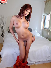 Anabella and that 8 inch uncut cock of hers returns to Canada TGirl