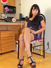 She is really passable tgirl of Filipino descent and I figured she was a good candidate for a shoot.
