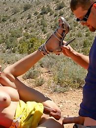 Shemale Pornstar TS Jules in hardcore public sex scene