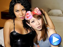 Nothing beats sensual t-girl on t-girl action! Enjoy this steamy hardcore scene with Serina and Bangkok ladyboy Jasmine!
