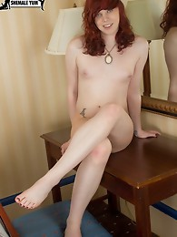 San Francisco hipster tgirl returns to Shemale Yum for another foot fetish fantasy!