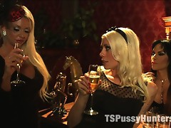 TS Foxxy & Lorelei Lee fuck, fist her pussy & cum all over Courtney Taylor - epic, hot & wet girl/girl/TS girl action