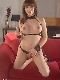 Alluring Eva toys her tight butt