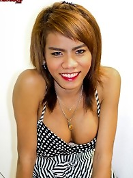 Cute ladyboy with a massive shedick!