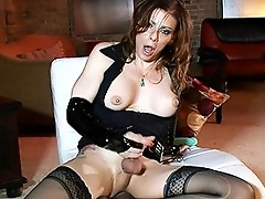 Sexy TMILF Jasmine milking, toying & masturbating