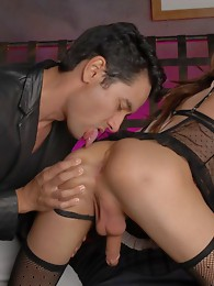 Naughty tgirl Unique having sex with Gabriel