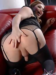Naughty TS Tiffany toying her tight asshole