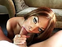 Naughty Mia Isabella giving a deep blowjob