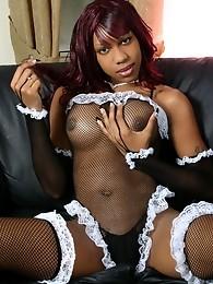 Irresistible Jade Playing Hot French Maid