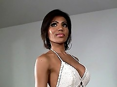 Amazing tgirl T.T toying her sweet little asshole