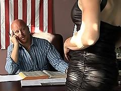 Stunning TMILF Jasmine Jewels gagging on a hard big cock