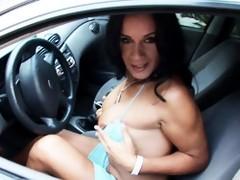 Sweet Aline Ganzarolli Masturbating Outdoors
