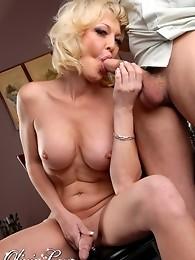 Blonde hottie Olivia having sweet oral with TJ