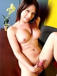 Hot Brunette Deanna Taking Her Clothes Off