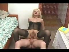 When you look at this sexy and beautiful chick, you wouldn't imagine that she is hiding a big fat dick in between her legs. See her as sucks on t
