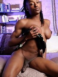 Tgirl Natalia Coxxx exposing her black perfect body