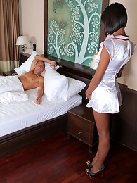 Watch tranny nurse Dada take care of our boy Ramon before getting fucked!