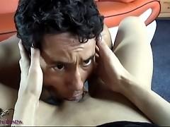 Horny tgirl gets her cock sucked deep