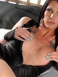 TS sweetheart Morgan posing her long hard cock