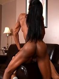 Ebony goddess Natalia Coxxx banging a guy